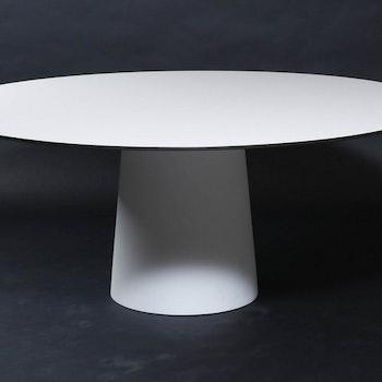 Runder Tisch, Moooi Container Table Weiß HPL 180 cm - Marcel Wanders