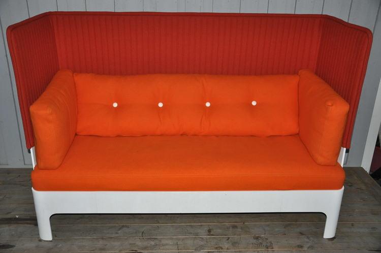 Sofa, Blå Station Hotel 3-Sitzer - Fredrik Mattson