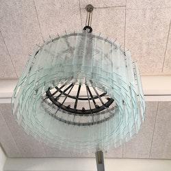 Vintage Kronleuchter aus Eisen mit Glas - 100 x 150 cm