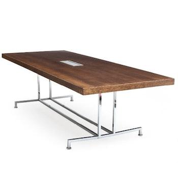 Set mit Tisch und 8 Stühlen, Moroso Steel - Enrico Franzolini