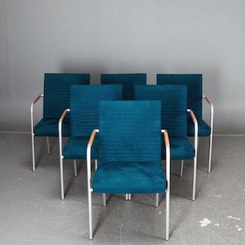 6 x konferenzstühle, Offecct Quilt Alcantara