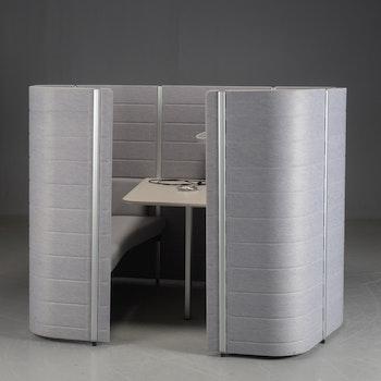 Raumteiler, Vitra Workbays Meet 4 Grau - Ronan & Erwan Bouroullec