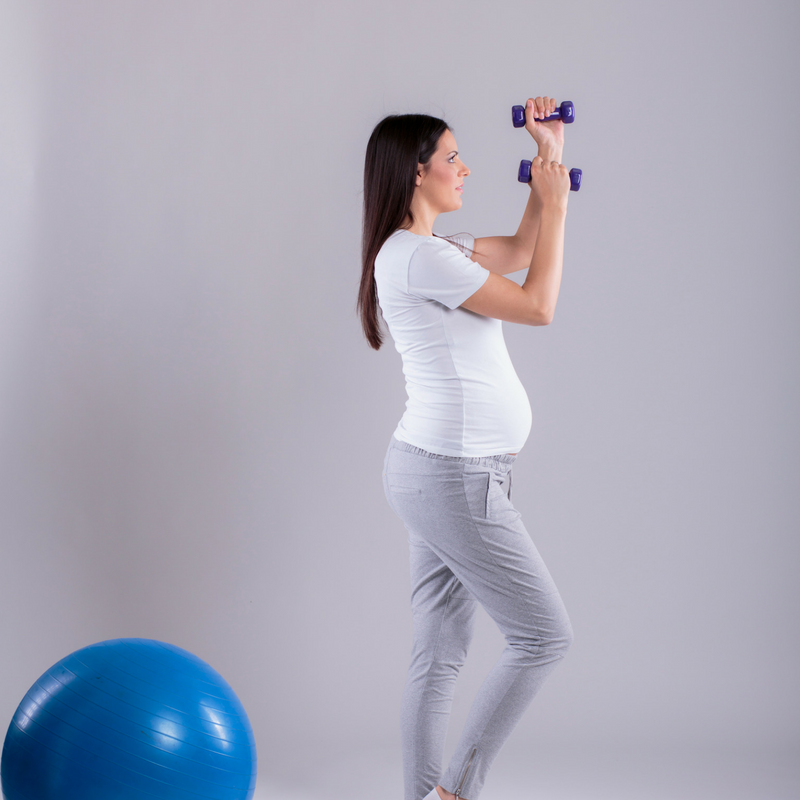 Att bibehålla formen under graviditeten