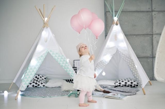 Ett magiskt tipitält till barnrummet