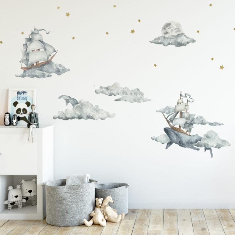 Barnrummets väggar, hur dekorerar man dem på bästa sätt?