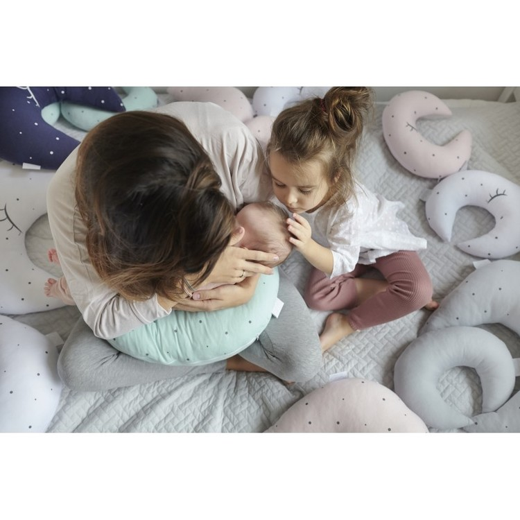 Kudde XL / Amningskudde grå måne, Effii Children World