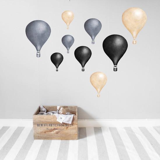 Mörkblå Luftballonger väggklistermärken, Stickstay