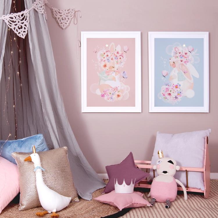 Poster Roses for bunny, tavla till barnrummet, Schmooks