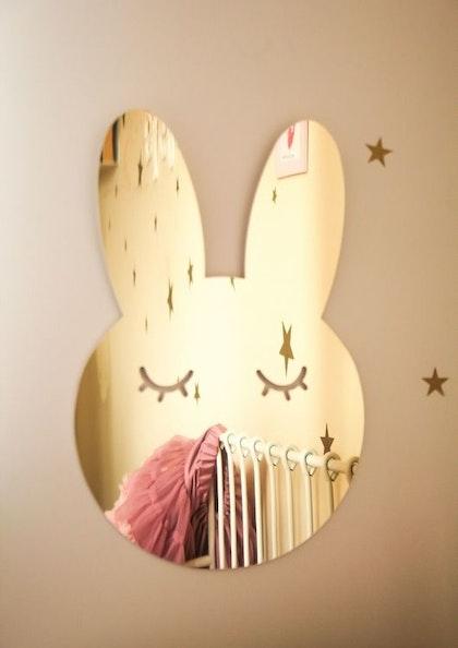 Kanin Spegel guld, Barnspegel till barnrummet - skadat