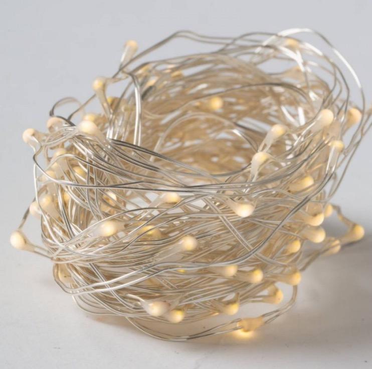 JaBaDaBaDo plum sänghimmel med ljusslinga (20 ljuskällor)