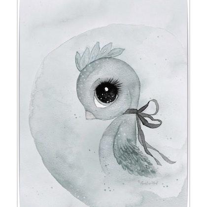 Poster Bird 50x70 , By Christine Hoel, Tavla till barnrummet