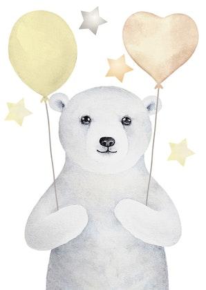 Poster till barnrum ,  björn A4