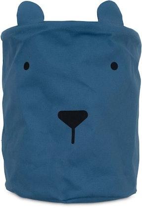 Jollein, förvaringskorg XL Animal Club, Steel Blue