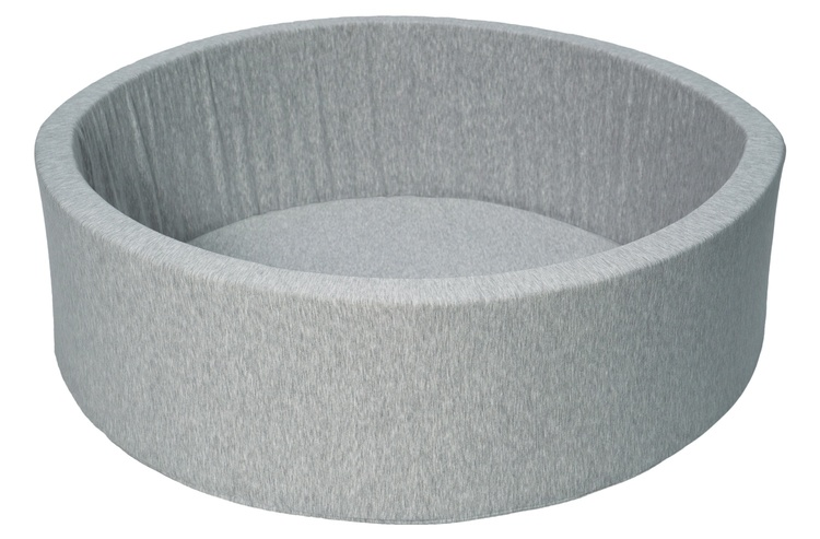 Ljusgrå bollhav BASIC, 90x30 med bollar (vit, pearl, grå)