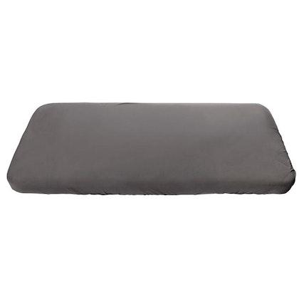 Sebra, grå dra-på-lakan spjälsäng 70x120 cm