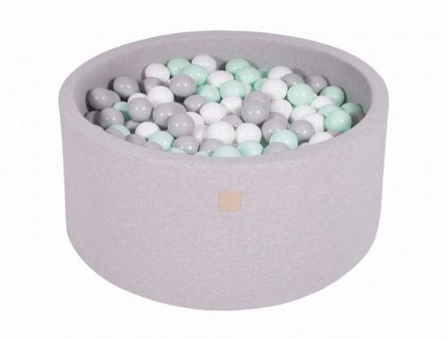 Meow, ljusgrå bollhav 90x40 med 300 valfria bollar