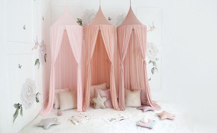 Spinkie Baby, sänghimmel Sheer, Dusty Pink