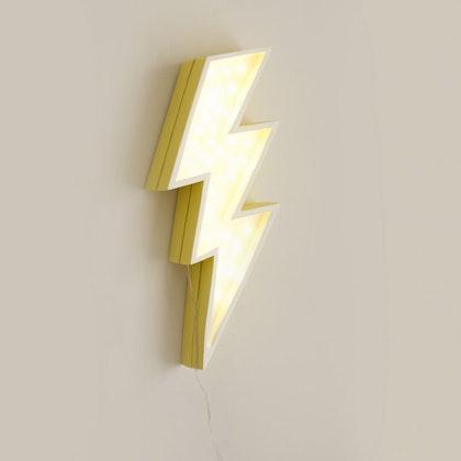 Nattlampa till barnrummet gul blixt lampa, Little Lights