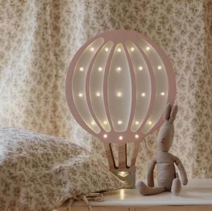 Nattlampa till barnrummet rosa luftballong, Little Lights