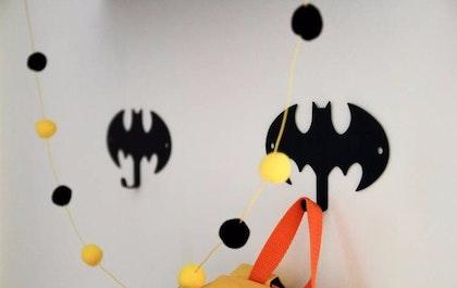 Vägghängare i metall till barnrummet, Batman