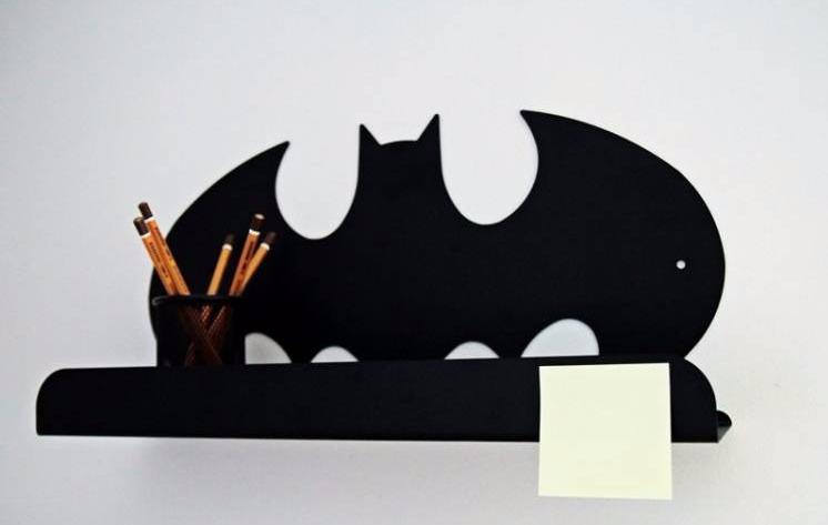 Hylla i metall till barnrummet, Batman Hylla i metall till barnrummet, Batman