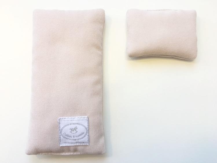 Puderrosa bäddset med fyllning till dockhus , Cotton & Sweets
