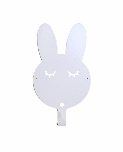 Vägghängare i metall till barnrummet, vit kanin