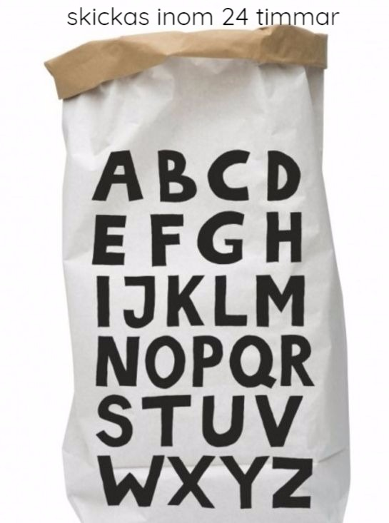 Tellkiddo papperspåse ABC Tellkiddo papperspåse ABC