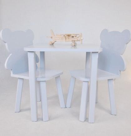Möbelset Teddy, 2 stolar och ett bord