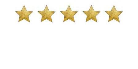Vintage guld stora stjärnor väggklistermärken, Stickstay