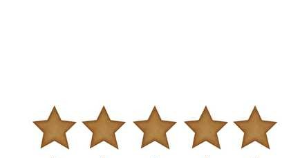 Mörkguldiga stora stjärnor väggklistermärken, Stickstay