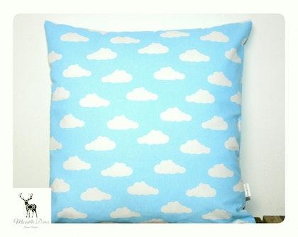 Kuddfodral 40x40 blå moln