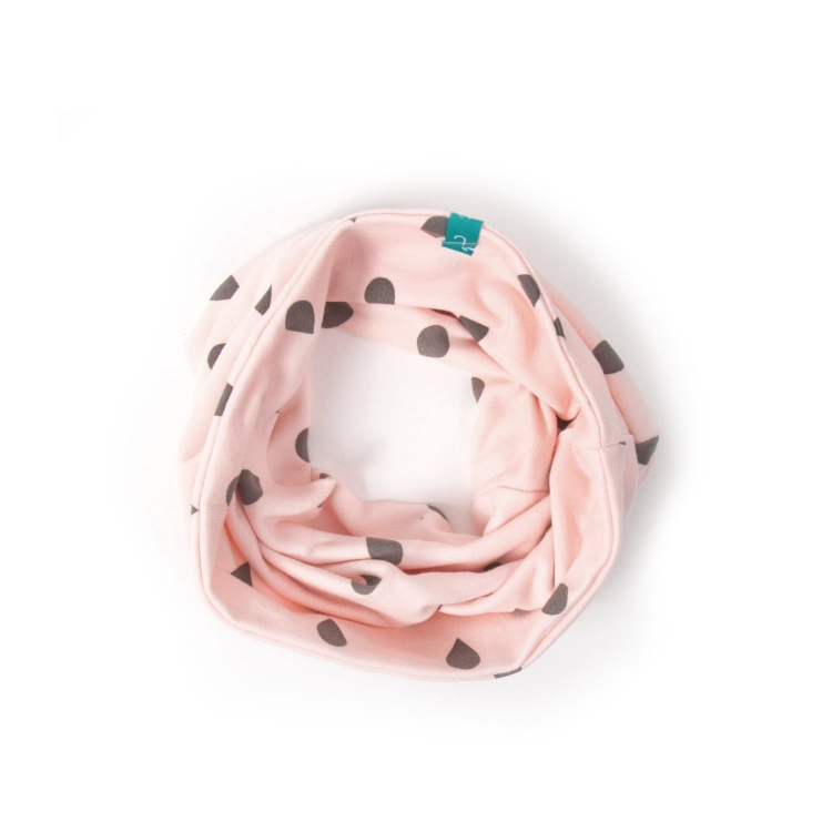 Tubhalsduk baby pink drops rosa tubhalsduk baby