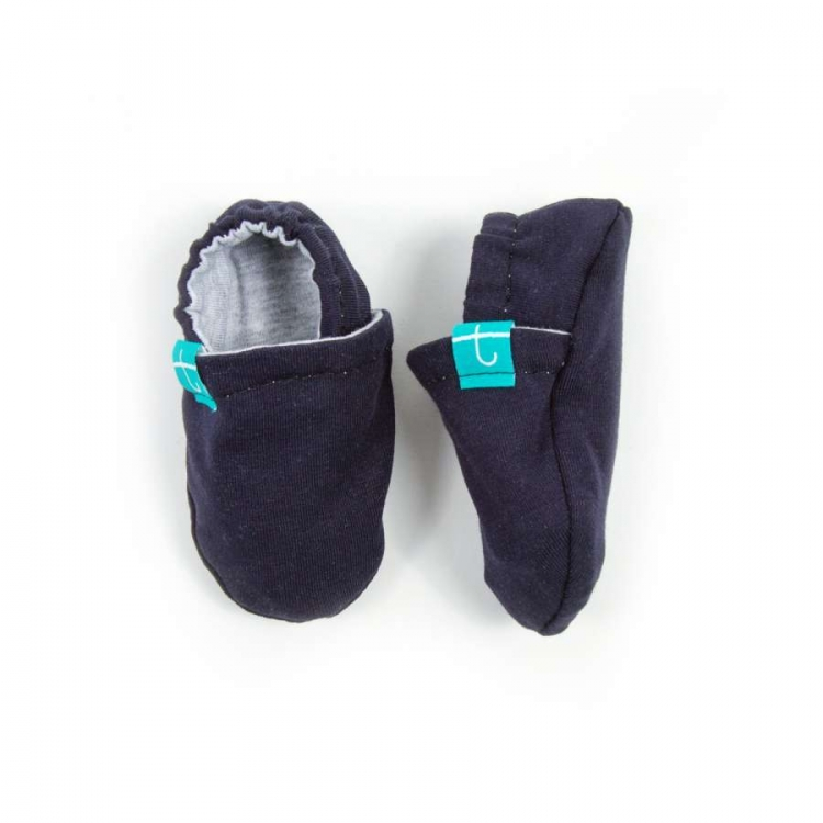 Newborn Mockasiner - Navy navy barn mockasiner