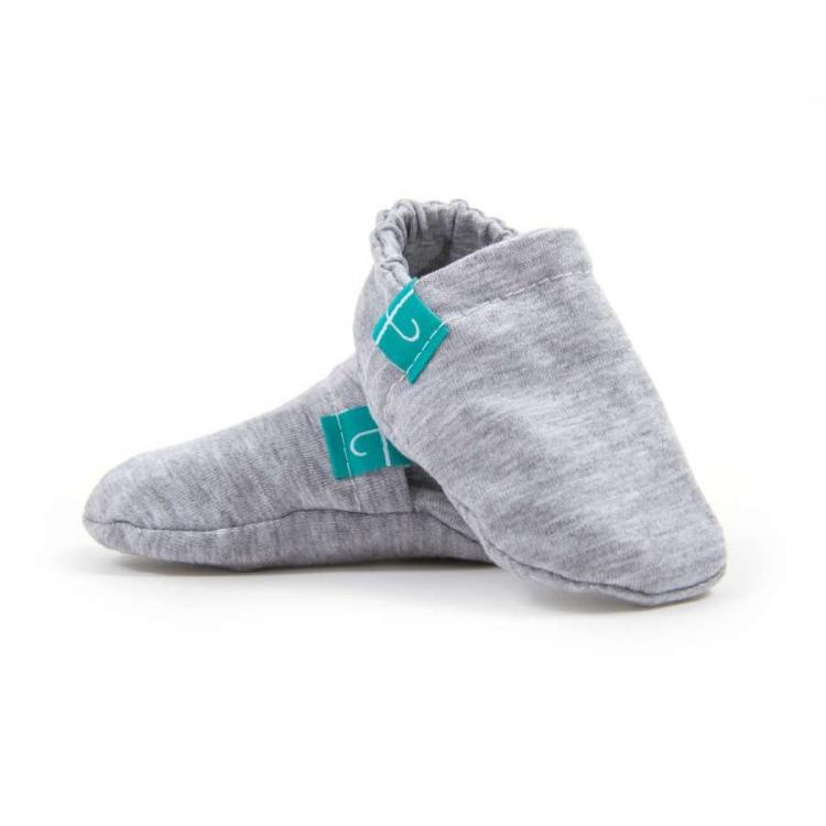 Newborn Mockasiner - Grey barn färgglada mockasiner