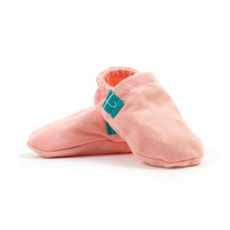 Newborn Mockasiner - Coral barn färgglada mockasiner
