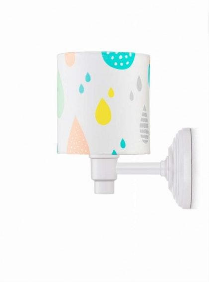 Vägglampa pastel raindrops