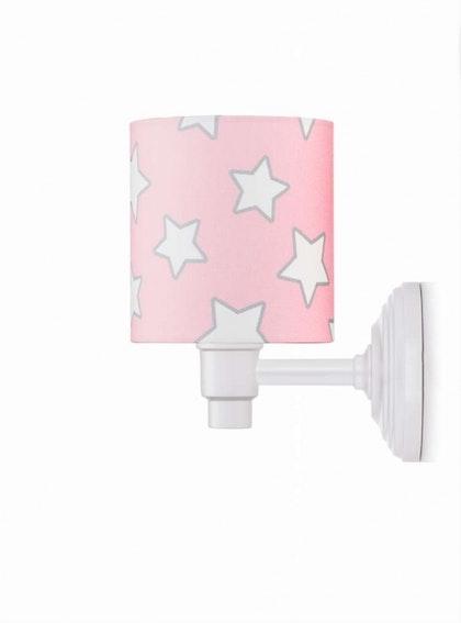 Vägglampa pink stars