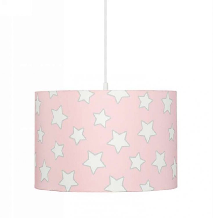 Taklampa pink stars