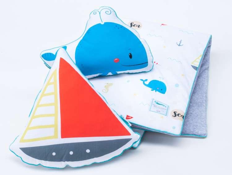 Barnfilt, babypled, lekmata 80x100 sea adventures