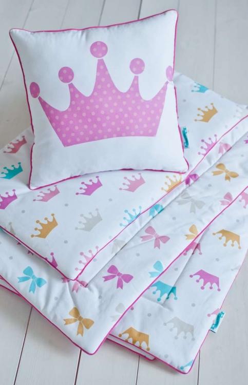 Barnfilt, babypled, lekmata 80x100 princess bows