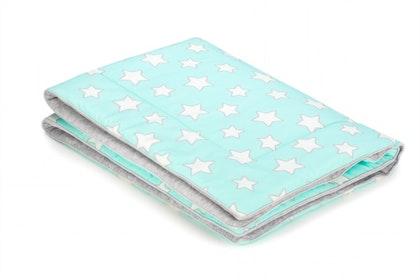 Barnfilt,babypled, lekmata 80x100 mint stars