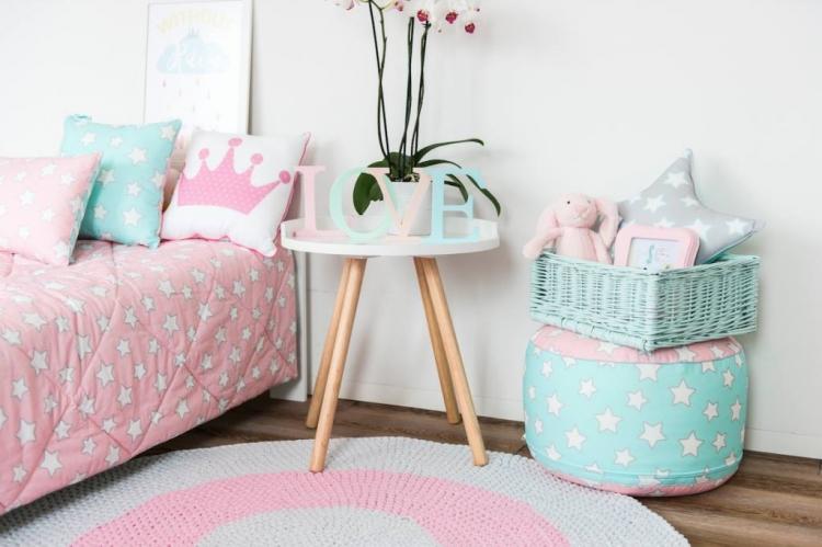 Sittpuff pink&mint stars