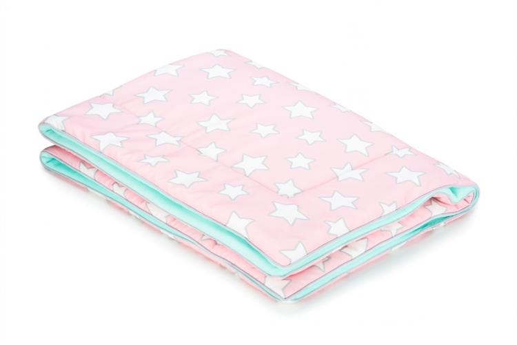 Barnfilt 80x100 pink stars