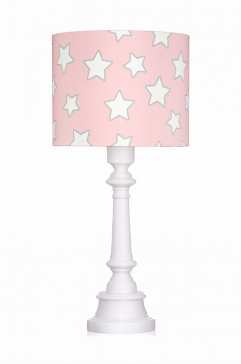 Bordslampa pink stars