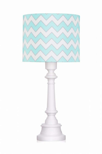 Bordslampa chevron mint