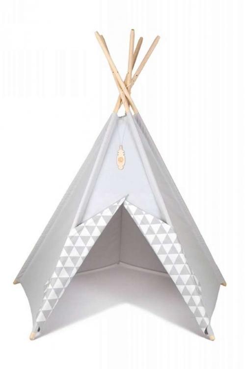 Lektält tipi - Grå färg - Little nomad