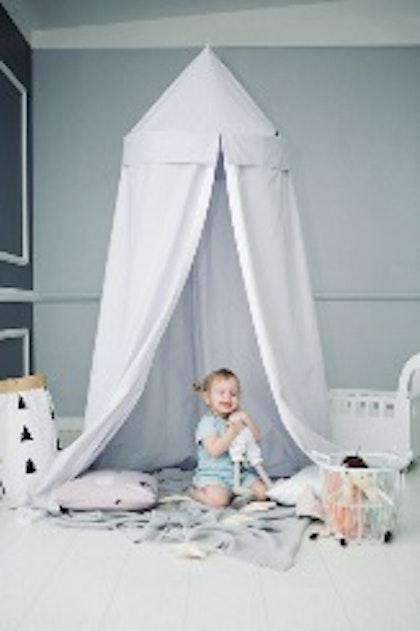 Sänghimmel, ljusgrå - Little nomad
