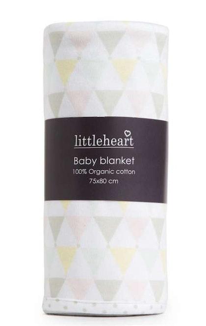Barnfilt, Little Heart, pastell confetti