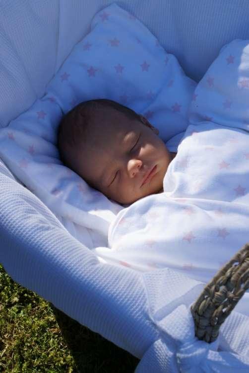 Barnsängkläder, Little Heart Bäddset vagn rosa stjärnor